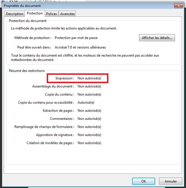 ImpressionPDFPropriete Comment Imprimer Un Document PDF « Protégé En Impression »