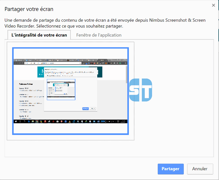Partager lintegralité de lecran dans Chrome Comment enregistrer son écran de bureau avec Google Chrome sur Windows / Mac / Linux