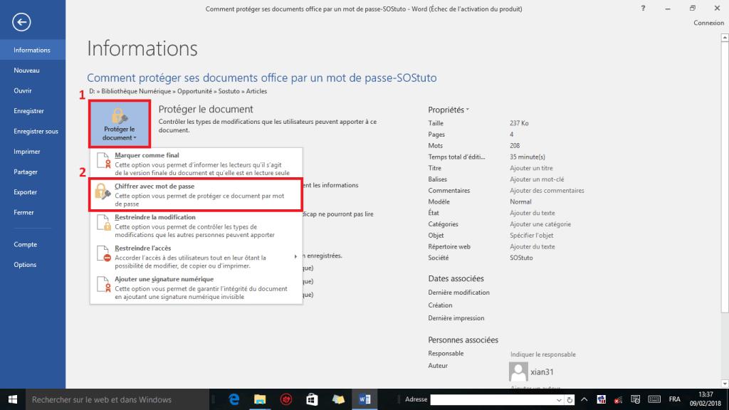 image3 1024x576 Comment protéger un fichier Word par un mot de passe sous Windows 10 /8/7/XP
