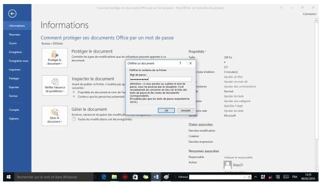 image4 Comment protéger un fichier Word par un mot de passe sous Windows 10 /8/7/XP