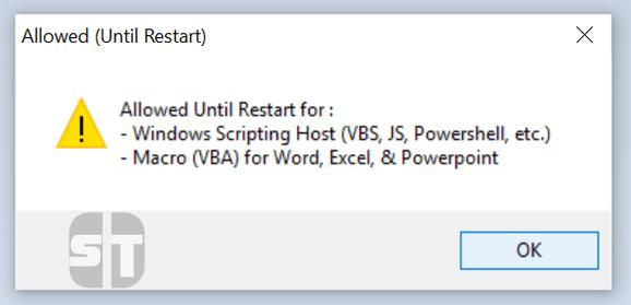 Script Macro autorisé Comment activer l'accès à Windows Script Host sur Windows 10/8/7