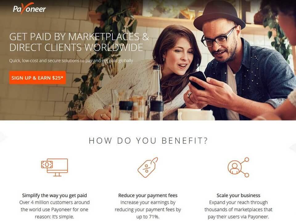compte payoneer 25 Les meilleurs sites pour gagner de l'argent qui paient via Payoneer