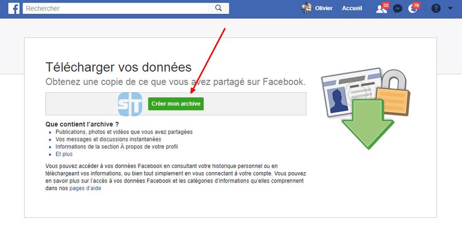 telecharger archive facebook Comment télécharger une copie des données que Facebook sait sur vous