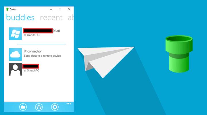 Télécharger Dukto – outil simple de transfert de fichiers en réseau entre deux PC