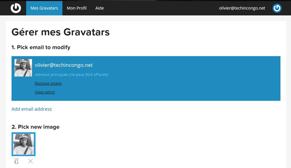 mes gravatars Gravatar – Comment afficher votre photo sur votre commentaire sur un blog