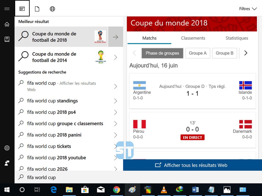 coupe du monde 2018 avec Cortana Consulter rapidement les résultats de la coupe du monde 2018 avec Cortana