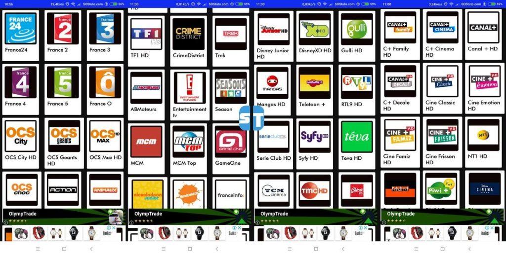 les chaines tele2web iptv 1024x519 Télécharger Tele2web v5 – l'application IPTV avec le plus de chaines françaises