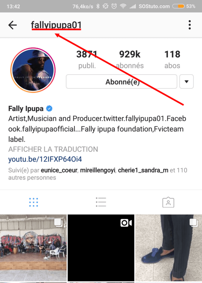 profil instagram fally ipupa 644x900 Comment télécharger la photo de profil Instagram pour la voir en grand
