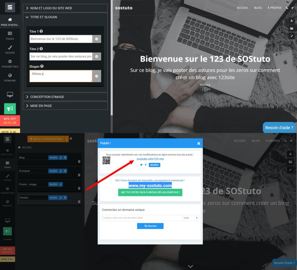 site123 en 2 minutes 990x900 Voici comment créer un site web gratuit sans savoir coder  HTML & CSS, PHP