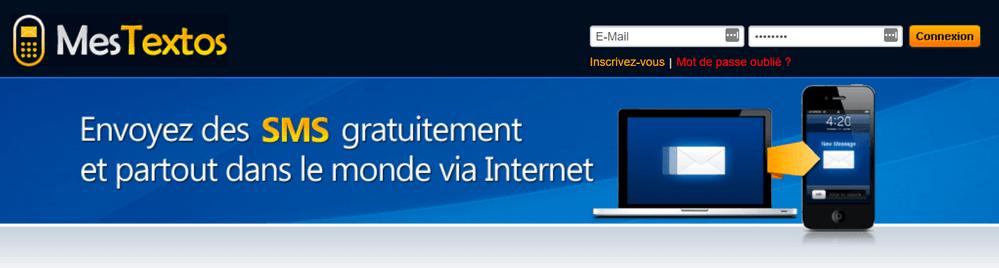 MesTextos SMS gratuit avec enregistrement Top 5 Sites pour Envoyer des SMS gratuitement sur Internet