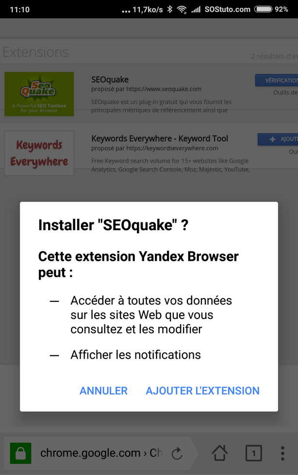 ajouter extension chrome sur mobile Comment installer une extension Chrome sur votre mobile Android