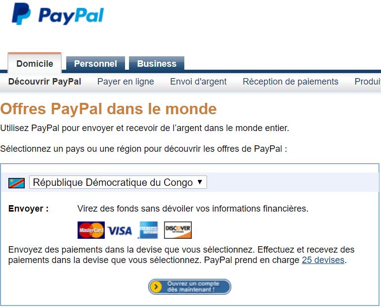 Offres PayPal au Congo Kinshasa Comment récupérer l'argent PayPal dans n'importe quel pays (non supporté par le virement PayPal)