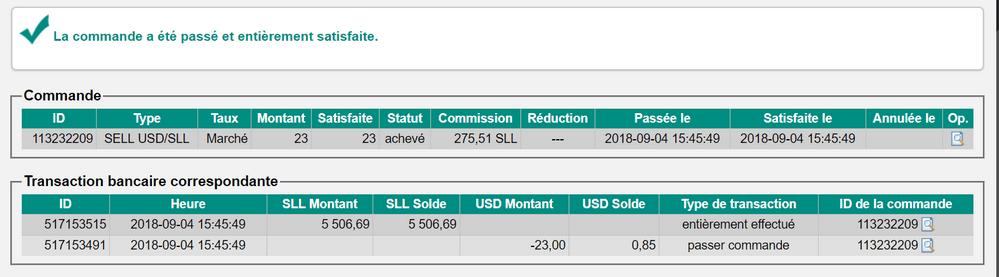 confirmation commande sll usd Acheter des bitcoins rapidement, sans vérification avec PayPal