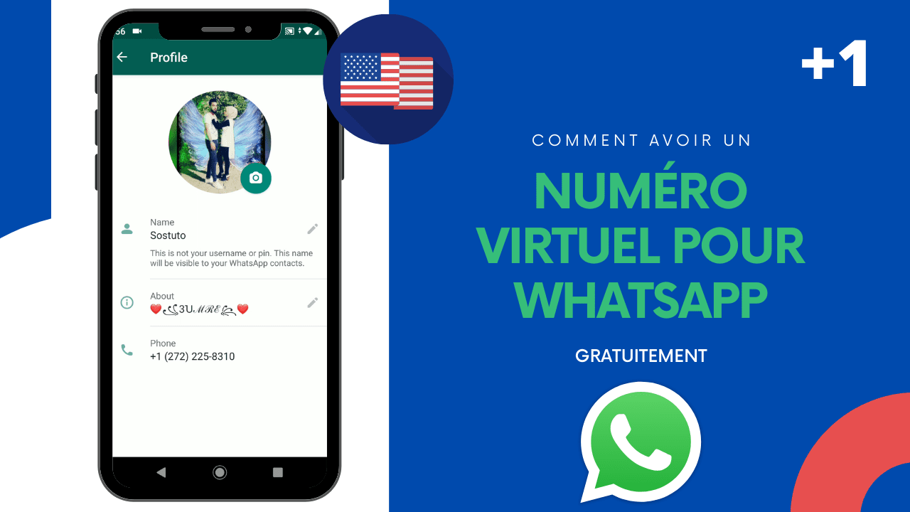 numéro virtuel gratuit pour whatsapp Comment Avoir un Numéro Virtuel Gratuit Pour WhatsApp, OTP 🇺🇸