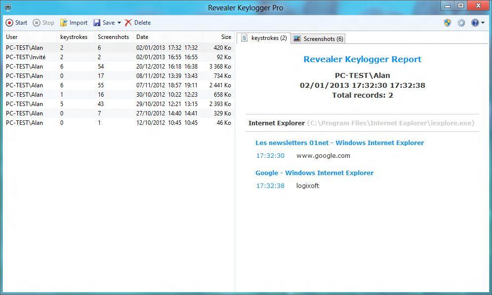 Revealer Keylogger Pro Les 10 Meilleurs Anti-Keylogger pour PC Windows, Android (+ Anti-RootKit)