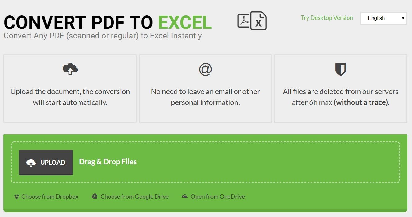 Convert PDF to Excel Les Meilleurs Outils pour Convertir un Fichier PDF en Excel et vice-versa