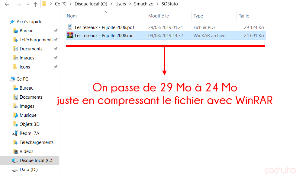 Compression avec WinRAR Comment Envoyer un Fichier Volumineux par E-mail ? 5 Solutions