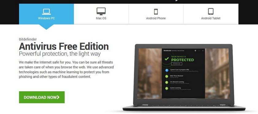 BitDefender Les 5 Meilleurs Antivirus Gratuits pour Windows et Mac