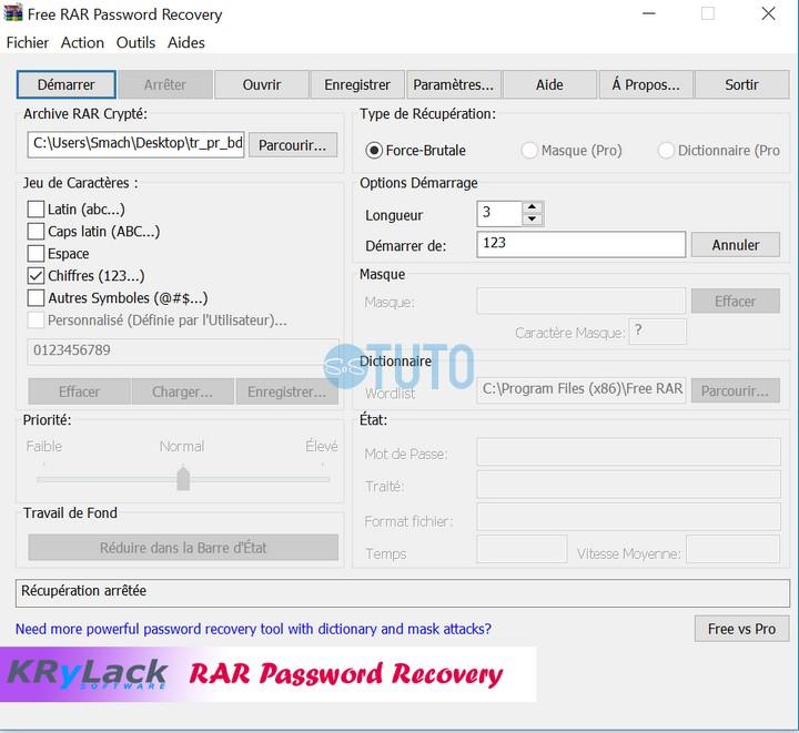 Free RAR Password Recovery Comment Contourner Le Mot de Passe d'un Fichier WinRAR Crypté