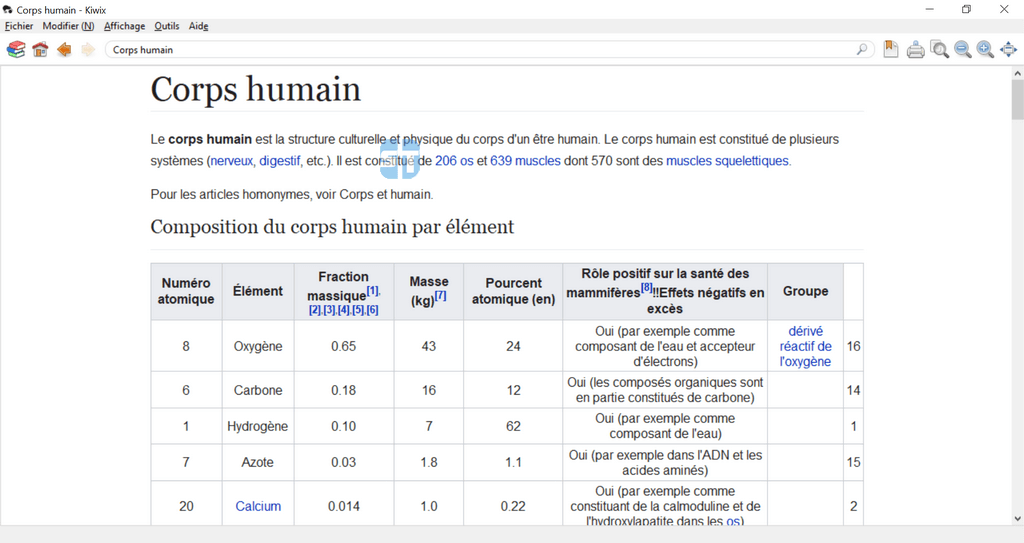 kiwix medecine corps humain 1024x543 Encarta n'est plus – Télécharger Wikipédia Hors Ligne