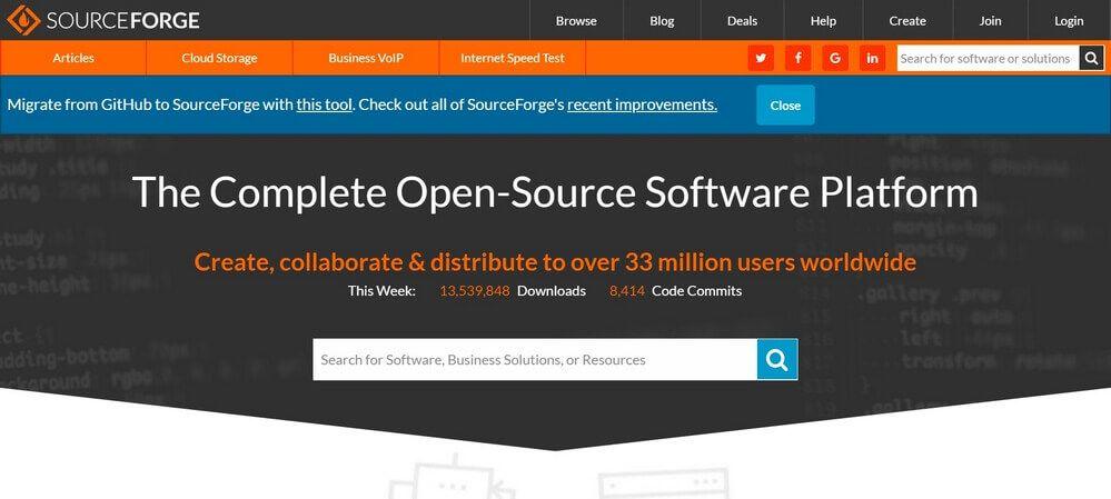 SourceForge Les Meilleurs Sites de Téléchargement des Logiciels Gratuitement