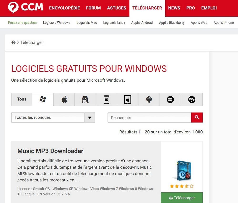 TELECHARGER CCM Les Meilleurs Sites de Téléchargement des Logiciels Gratuitement