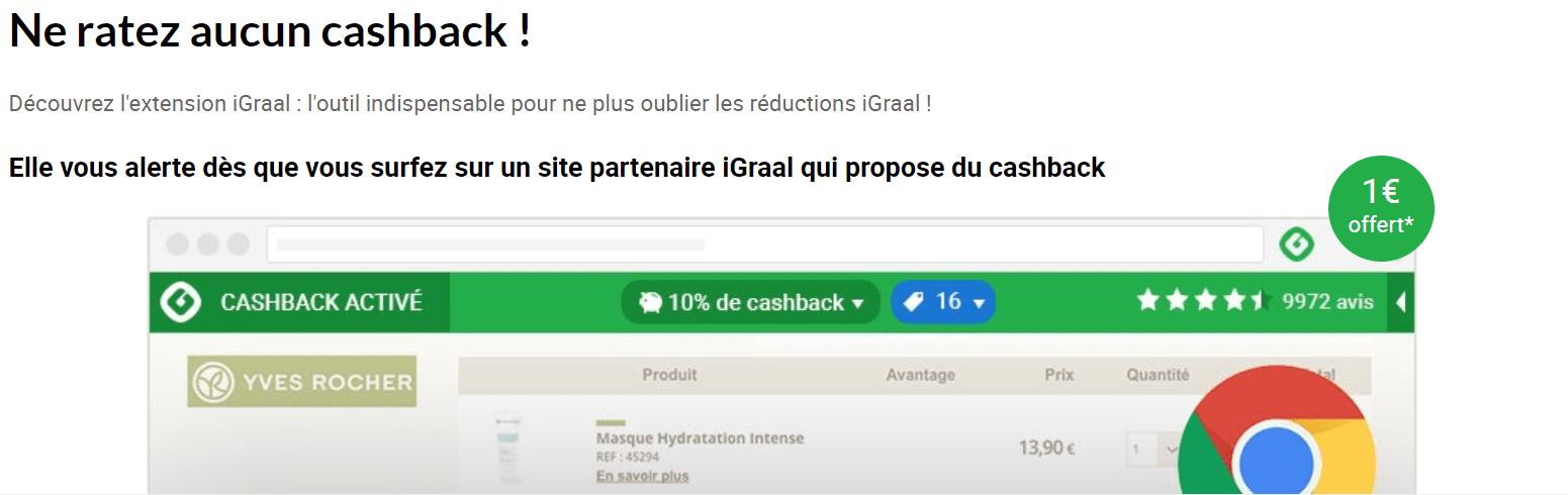 extension igraal Gagner de l'Argent en Achetant sur Internet - Mon avis sur iGraal