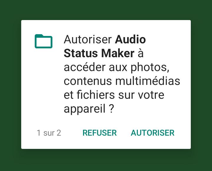 Autorisation Audio Status Maker Comment Mettre une Chanson Audio en Statut WhatsApp, Instagram