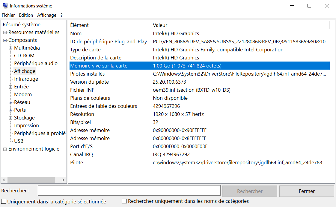 Informations Carte Graphique Comment Savoir Si un PC est Compatible avec un Jeu?
