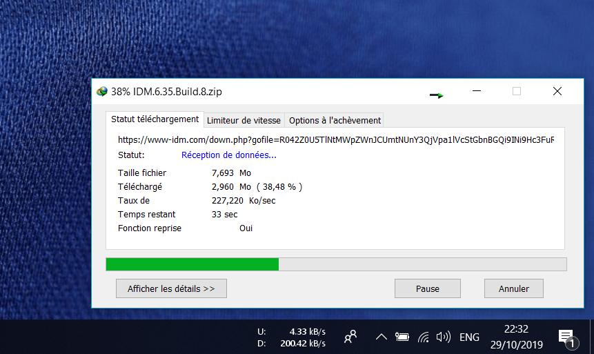 NetSpeedMonitor en Cours sur Windows Comment Afficher son Débit Internet dans la Barre des Tâches Windows 10