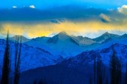 Beautiful sunset on Stok Range