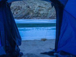 View from our tent - the chadar just looked serene