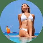 Woman-sunbathing-by-pool