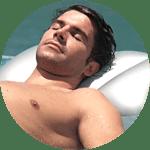 guy by pool