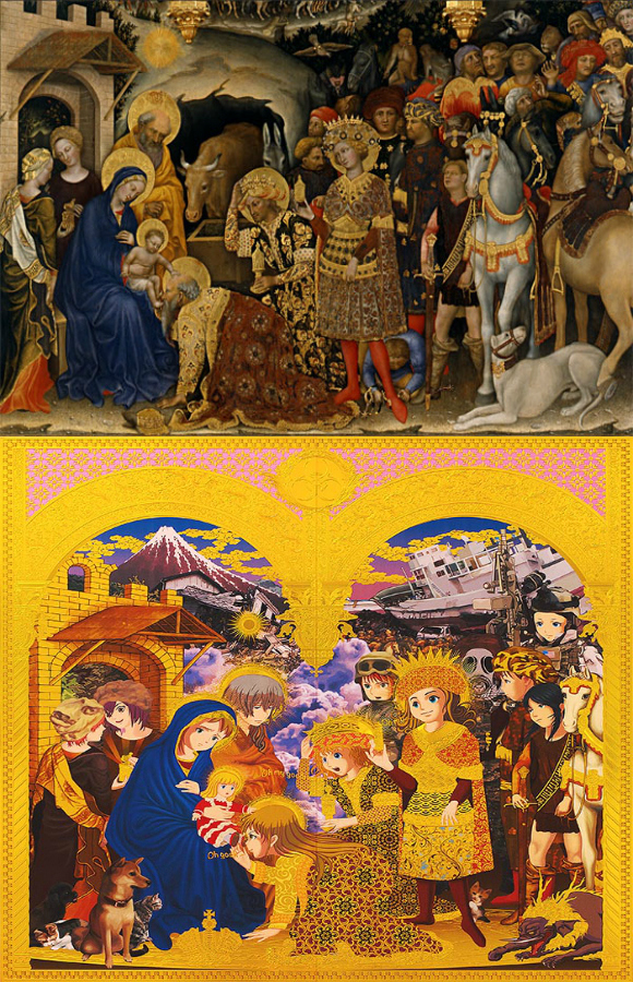 Japanese artist re-invents religious art from the Renaissance Period