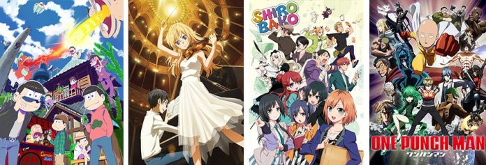The Nominees for the Anime of the Year 2016 Award announced