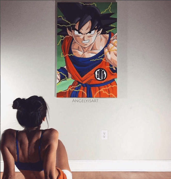 This babe has been dominating instagram with her Anime Paintings