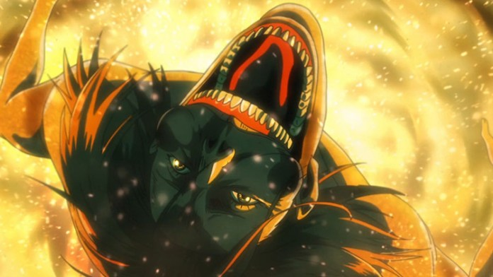 The Smiling Titan from Attack on Titan anime