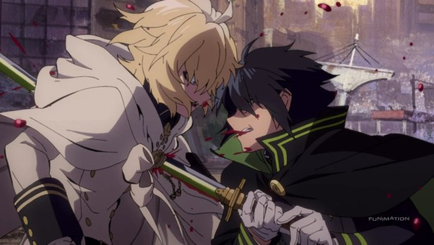 seraph of the end fight