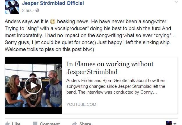 IN FLAMES Bassist Responds To Former Guitarist's 'Sinking Ship' Comment: 'He Doesn't Really Mean It'
