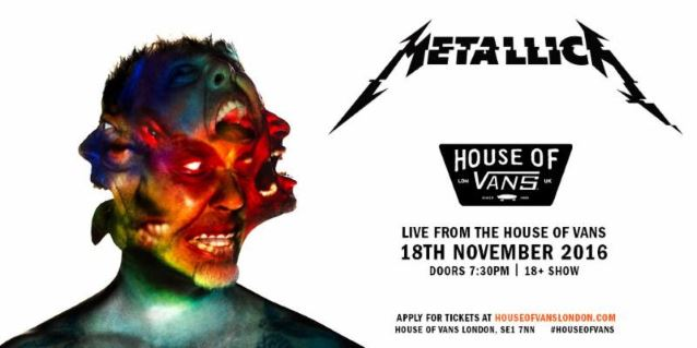 METALLICA To Celebrate 'Hardwired… To Self Destruct' Album Release At House Of Vans In London