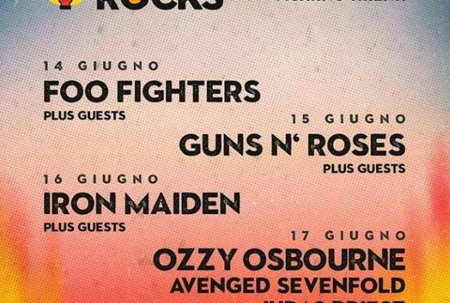 FOO FIGHTERS And GUNS N' ROSES Perform 'It's So Easy' Together At Italy's FIRENZE ROCKS Festival (Video)