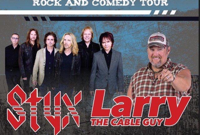 STYX To Join Forces With LARRY THE CABLE GUY For 'Laugh. Rock. Seriously.' Tour