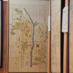 Kyoto, Japan, is an interesting old maps exhibition to consider the Tokyo of transition