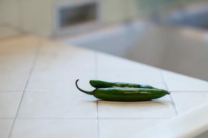 Fresh serrano chiles
