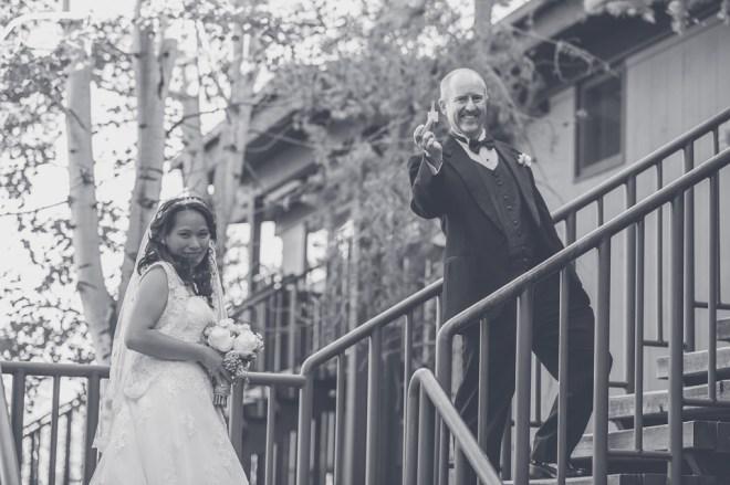 Bramblett Wedding - entering the Teton Mountain Lodge