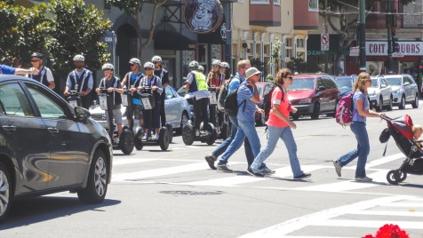 Ride your Segway up and down North Beach's steep streets