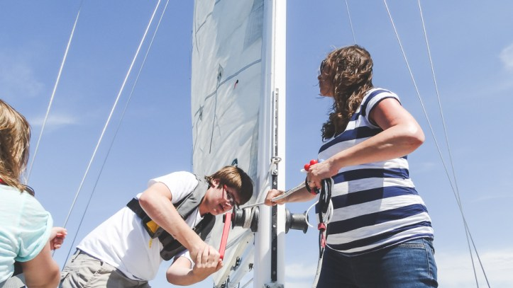 Sailing is a team sport for the whole family...even before they're born!