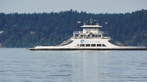 One of the many ferries crisscrossing Puget Sound carrying people and cars