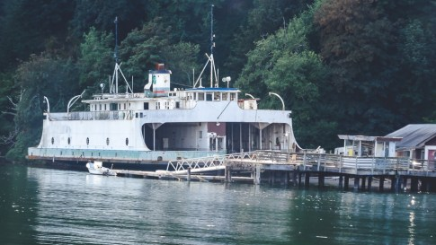 Retired ferry at the dock